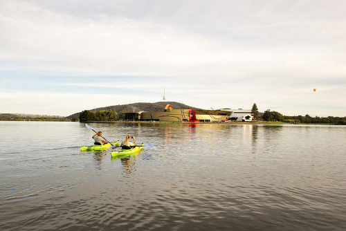 Canoeing on Lake Burley Griffin